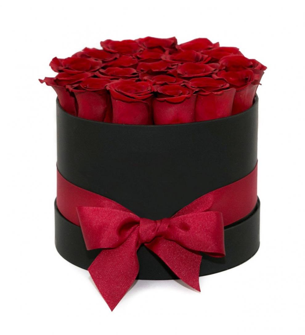Dekoratif Kutuda Kırmızı Güller